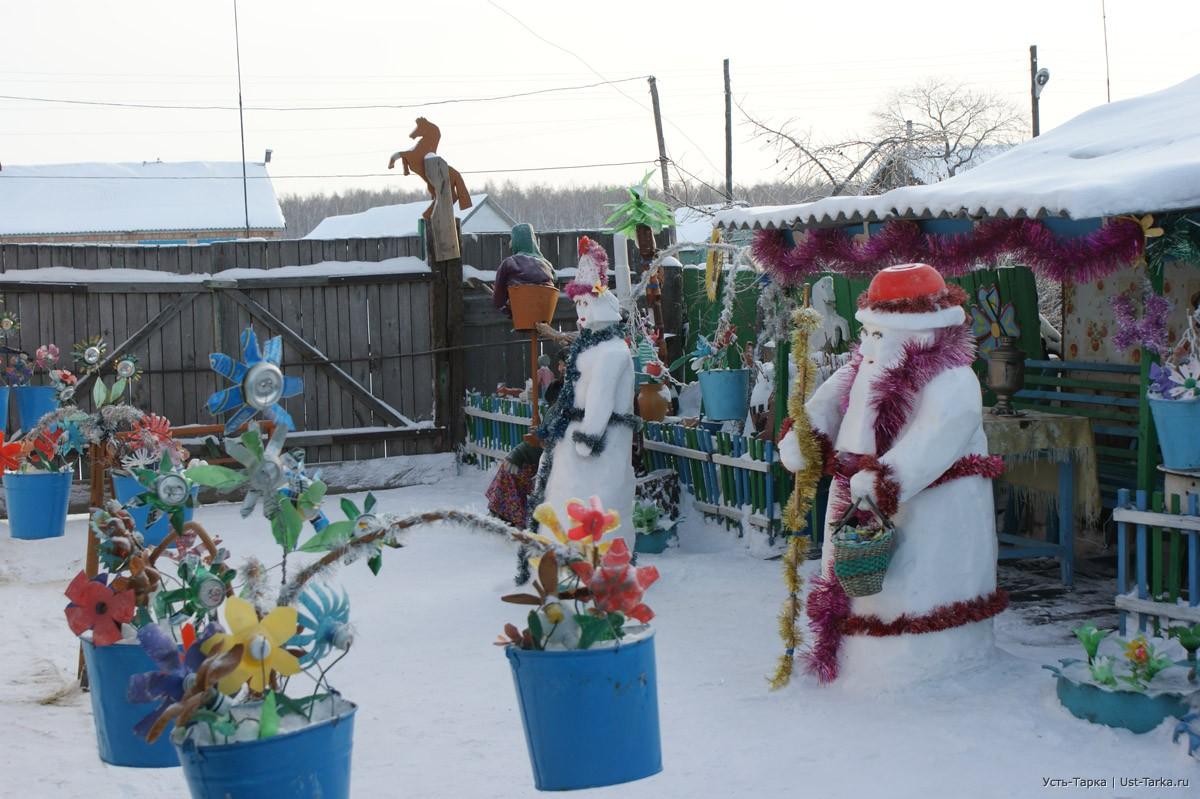Зимний дворик своими руками