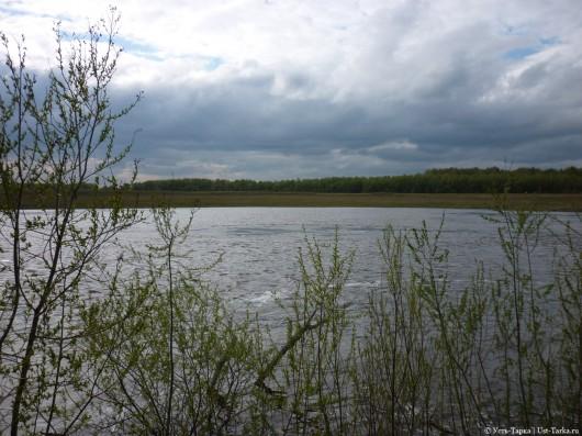 на берегу реки Омь