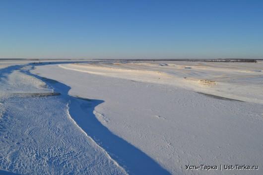 река Омь, декабрь