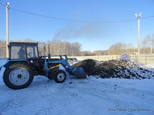 Угольный склад в Усть-Тарке